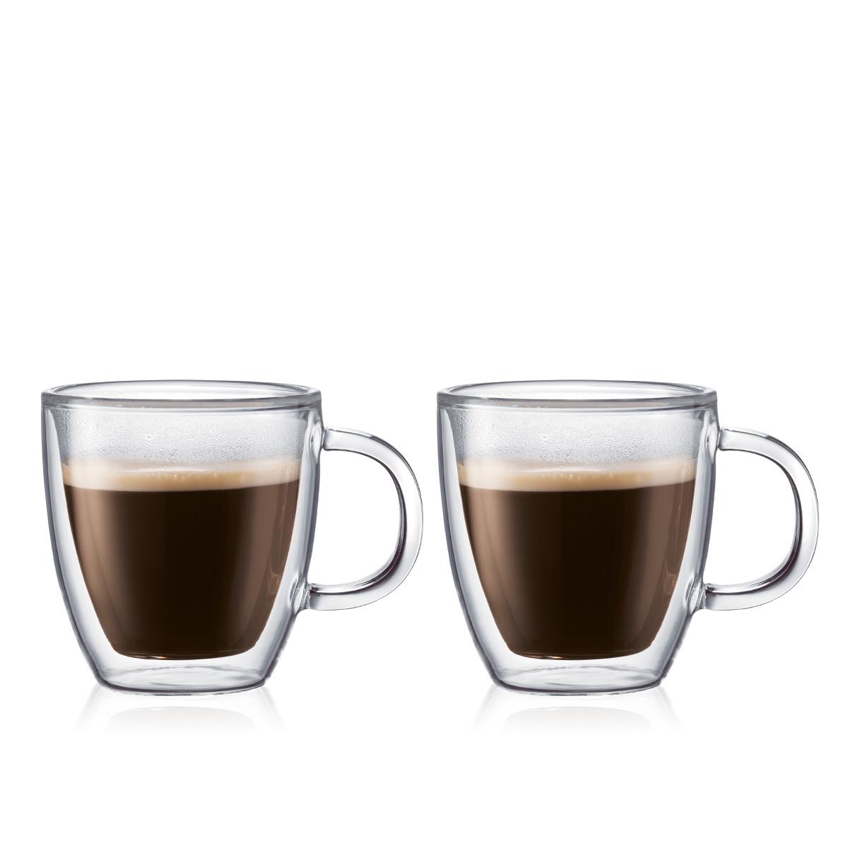 BISTRO: 2 chávenas térmicas, parede dupla, 0.15 l