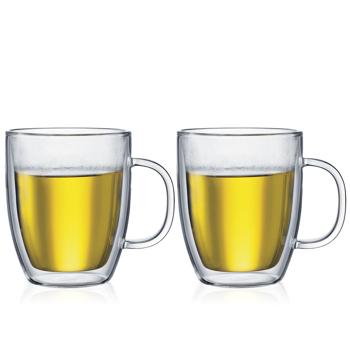 BISTRO: 2 chávenas de vidro de parede dupla, 0.45 l