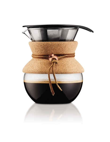 POUR OVER: Coffee maker with permanent filter,  0.5 l, 17 oz
