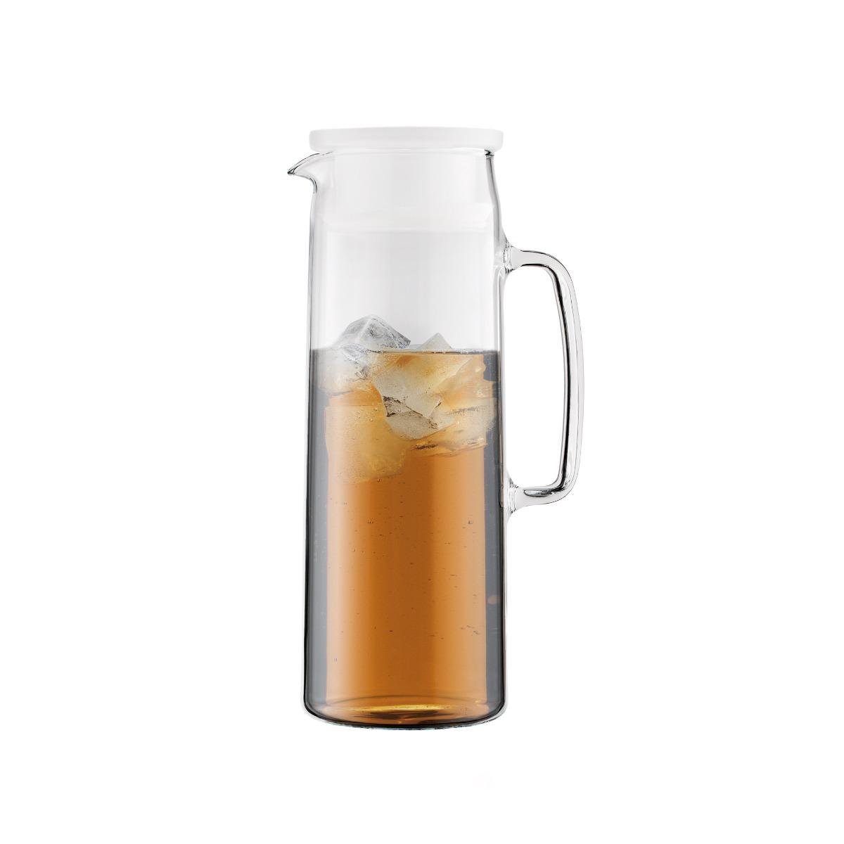 BIASCA: Pichet infuseur en verre, couvercle avec filtre 1.2 l