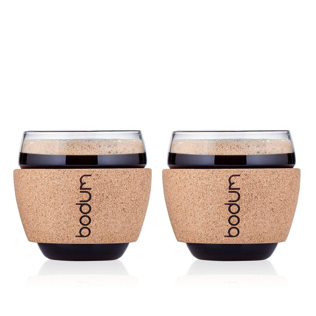 espresso cups with cork Bodum