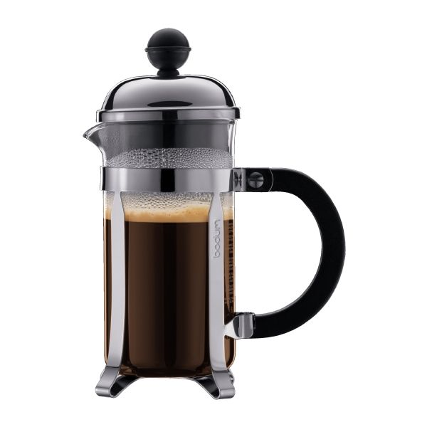 Coffee maker, Stainless steel, Small press