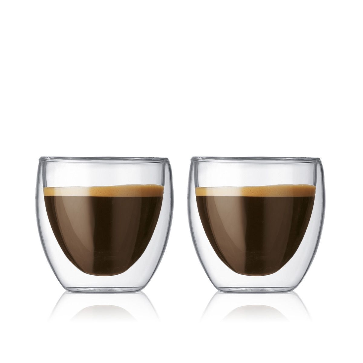 Double Wall Glasses PAVINA - 2 pieces set 2.5 oz