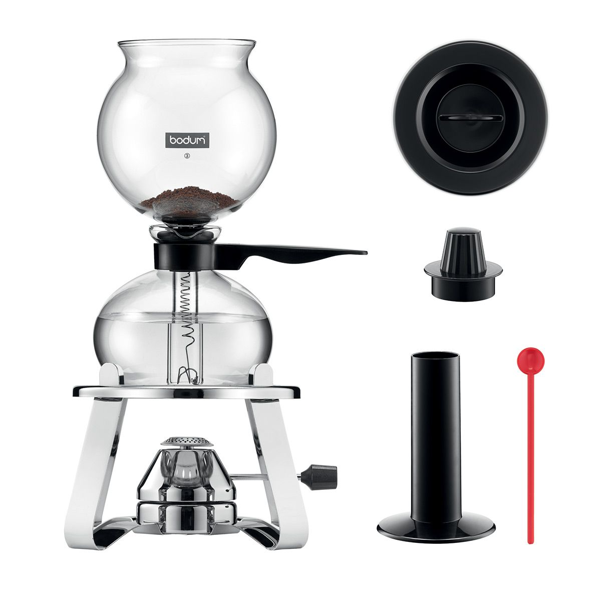 Vacuum Coffee Maker With Gas Burner PEBO Bodum