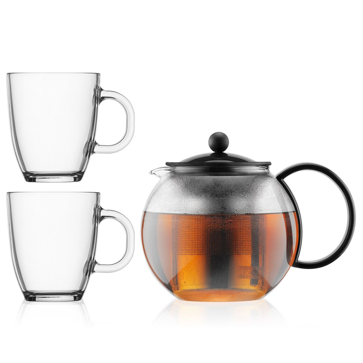 teapot with infuser and 2 mugs - Bodum