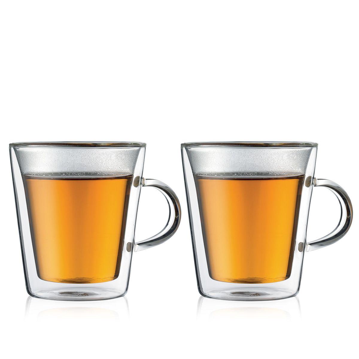 double wall glass mug Bodum