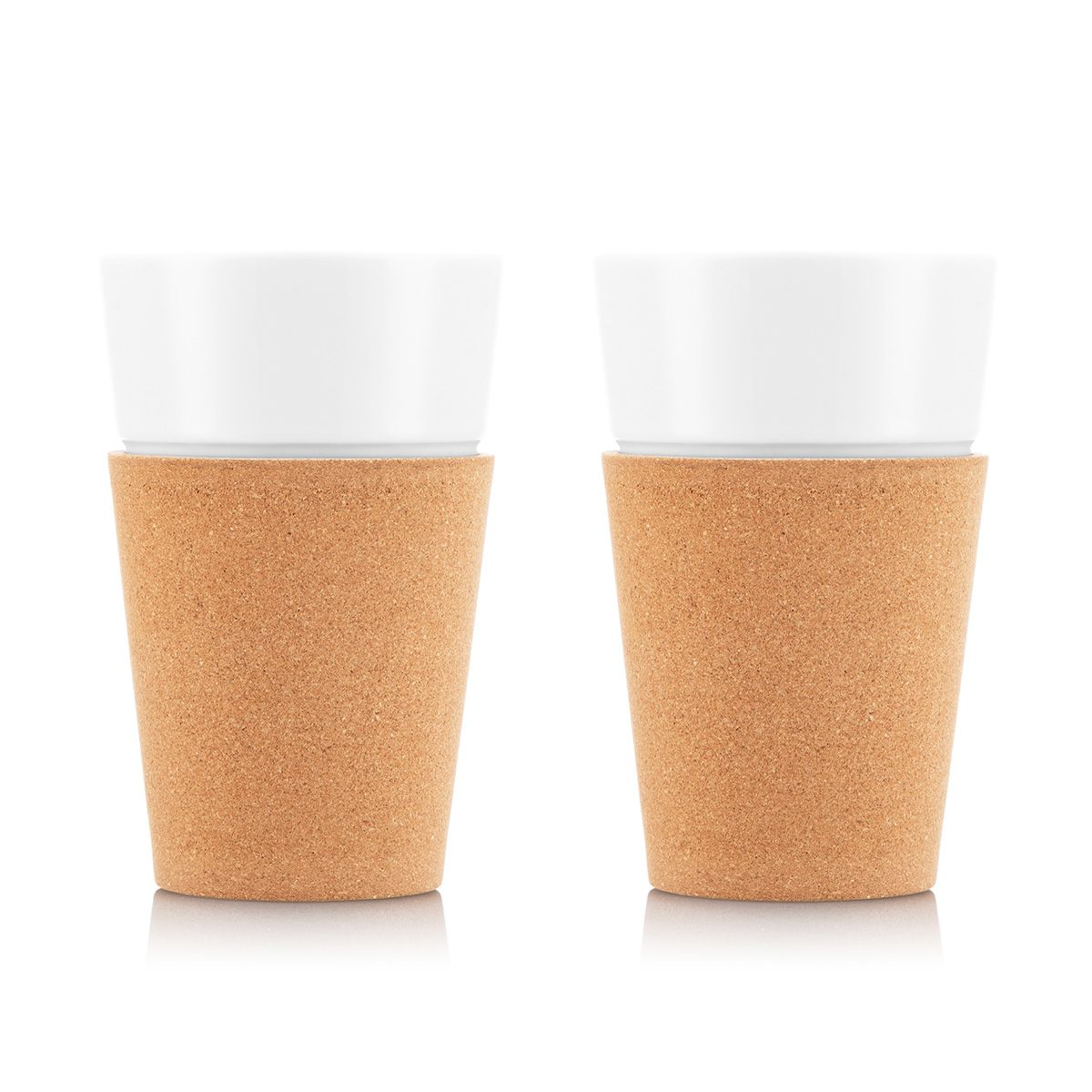 porcelain cup with cork Bodum
