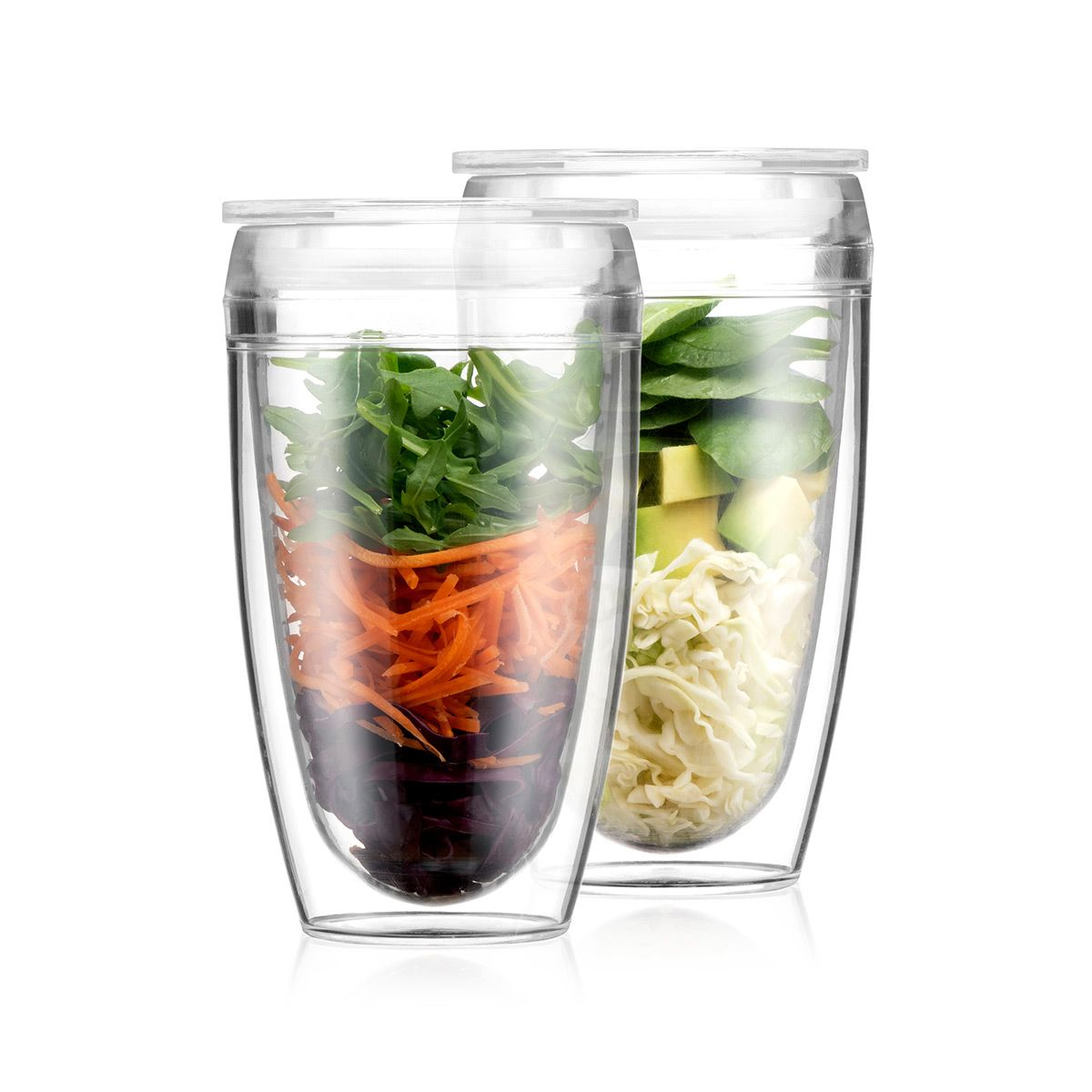 Double Wall Tumbler With Lid PAVINA TO GO Bodum