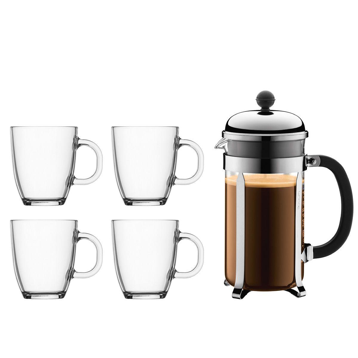 French Press Coffee Maker Glass Mug CHAMBORD BISTRO Bodum