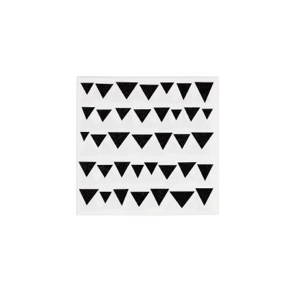 BASIC NAPKINS: Paper napkins white with black flags